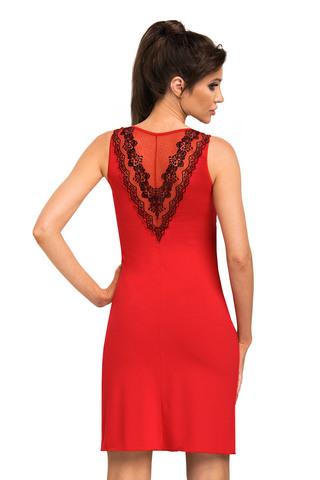Cорочка Jasmine красного цвета на широких бретелях, выполнена из мягкой гладкой вискозы