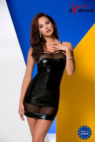 Сорочка + стринги Muriel черного цвета