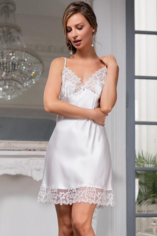 Романтичная короткая сорочка Mia-Amore с отрезными чашками и на тонких бретелях