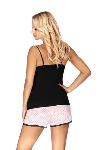 Пижама Alice нежно-розового цвета состоит из черного топа и розовых шорт