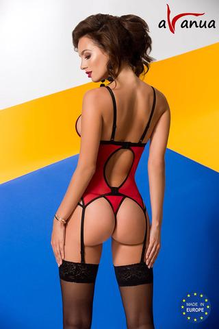 Корсет + стринги Salome красного цвета