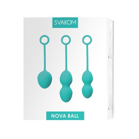 Nova Ball Зеленый Вагинальные шарики со смещенным центром тяжести