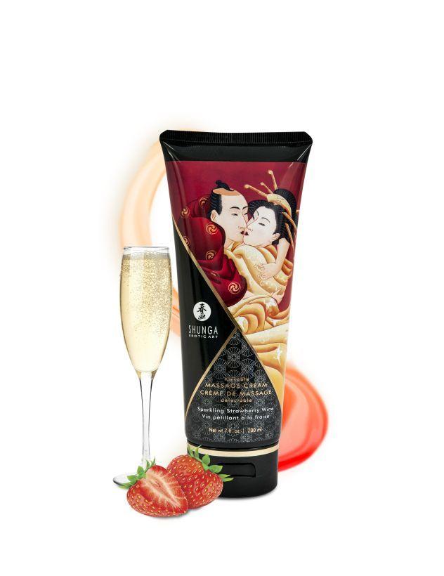 Массажный крем для тела Шампанское и клубника серии Необыкновенные поцелуи, 200мл фото