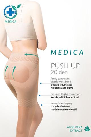 Телесные колготки с эффектом утяжки и push-up Medica Push-Up 20 den