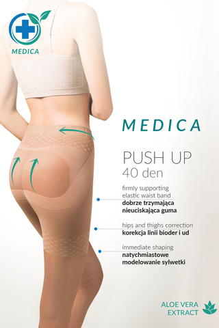 Телесные колготки с эффектом утяжки и push-up Medica Push-Up 40 den