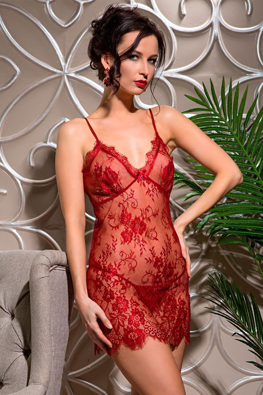 Изысканная сорочка Mia-Amore выполнена из ажурного французского кружева Шантильи (Chantilly) фото