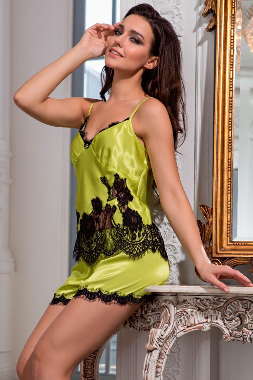 Комплект с шортами Mia-Amore выполнен из смесового шелкового полотна фото