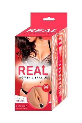 Реалистичный односторонний мастурбатор Real Women Vibration с вибрацией