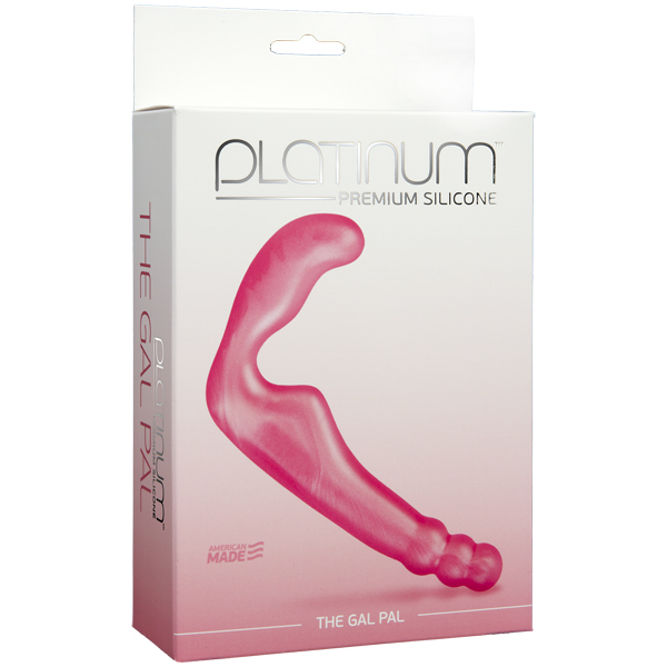Безременной страпон, стимулятор точки G без вибрации Platinum Premium Silicone - The Gal Pal - Pink фото