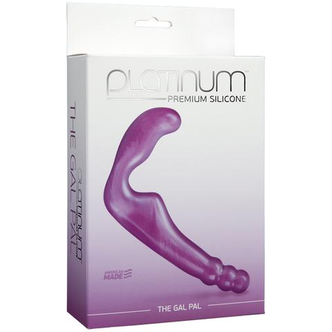 Безременной страпон, стимулятор точки G без вибрации Platinum Premium Silicone - The Gal Pal - Purple