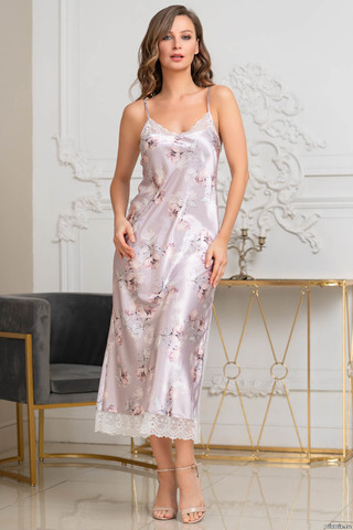 Длинная элегантная сорочка Mia-Amore полуприлегающего силуэта на тонких бретелях