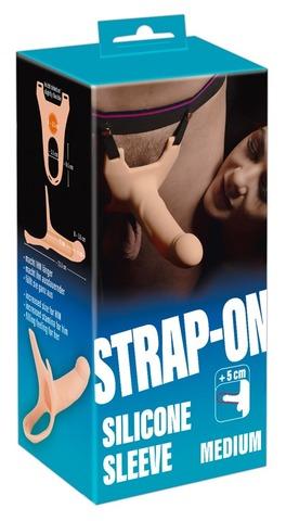 Силиконовый полый страпон на ремнях Silicone Strap-on by You2Toys Medium