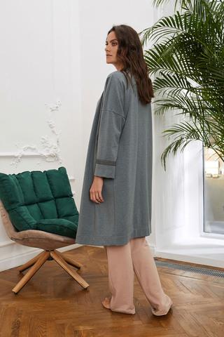 Уютный классический халат с поясом
