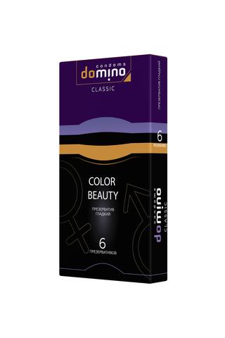 Презервативы Luxe DOMINO CLASSIC Colour Beauty 6 шт, 18 см