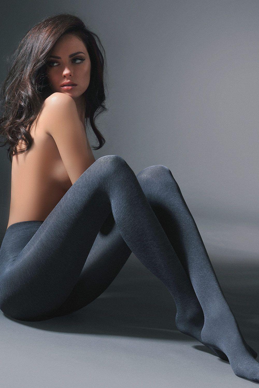 Колготки цвета темно-серый меланж с добавлением лайкры Melange 50 den фото