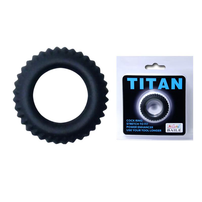 Эрекционное кольцо TITAN с ребрышками фото