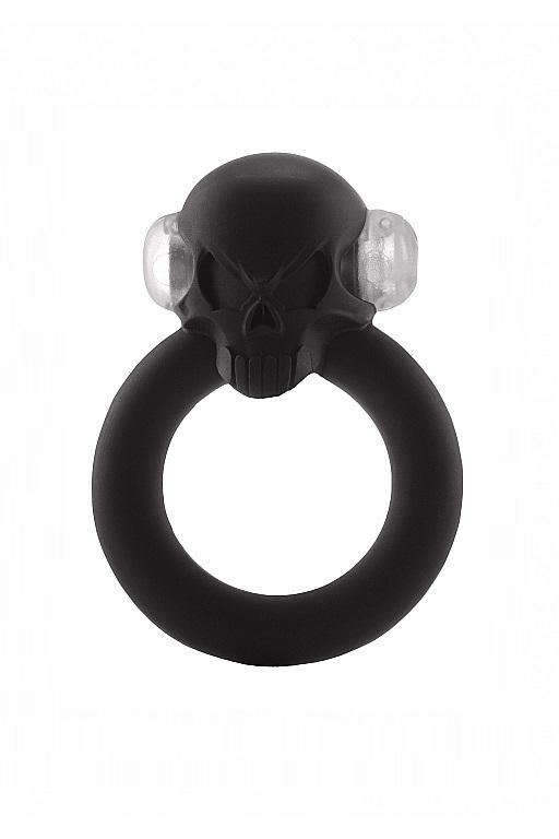 Эрекционное кольцо с вибрацией Shadow Skull Cockring фото