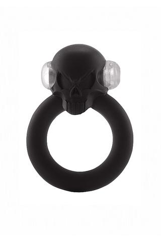 Эрекционное кольцо с вибрацией Shadow Skull Cockring