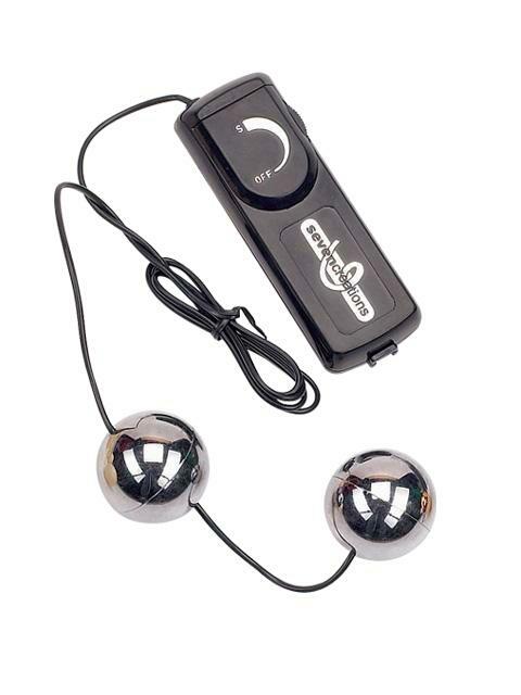 Вагинальные шарики с вибрацией ORGASM серебрянные фото