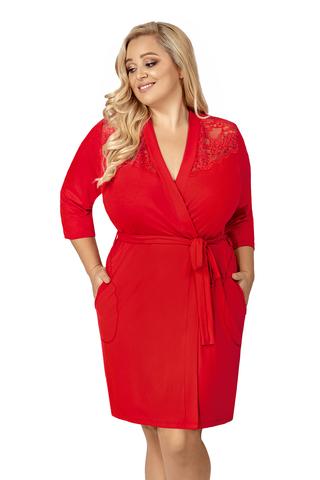 Красный халат Tess на запах