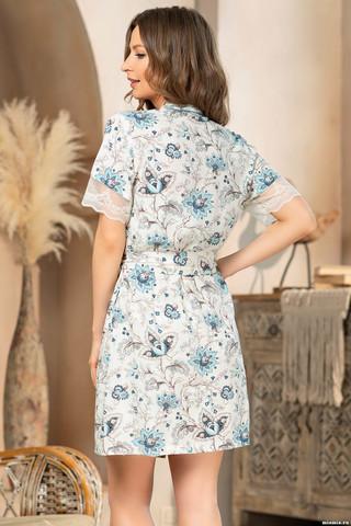Запашной халат Mia-Amore с коротким рукавом, выполнен из принтованной вискозы