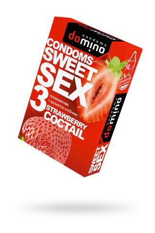 Презервативы Luxe DOMINO  SWEETSEX, клубника  №3