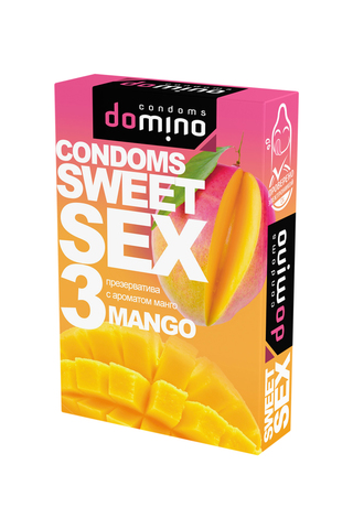 Презервативы Luxe DOMINO  SWEETSEX, манго  №3