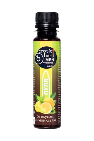 Биостимулирующий концентрат для мужчин   «Erotic hard» , со вкусом лимона и лайма 100  мл