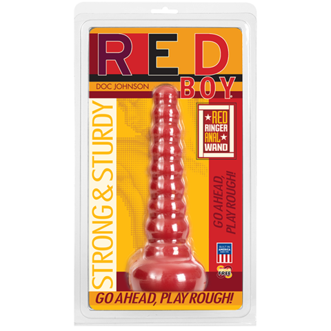 Анальный фаллоимитатор Red Boy - Anal Wand Butt Plug