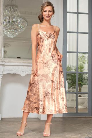 Элегантная длинная сорочка Mia-Amore из смесового шелкового полотна