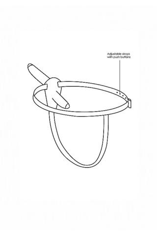 Двойной страпон Adjustable с вибрацией