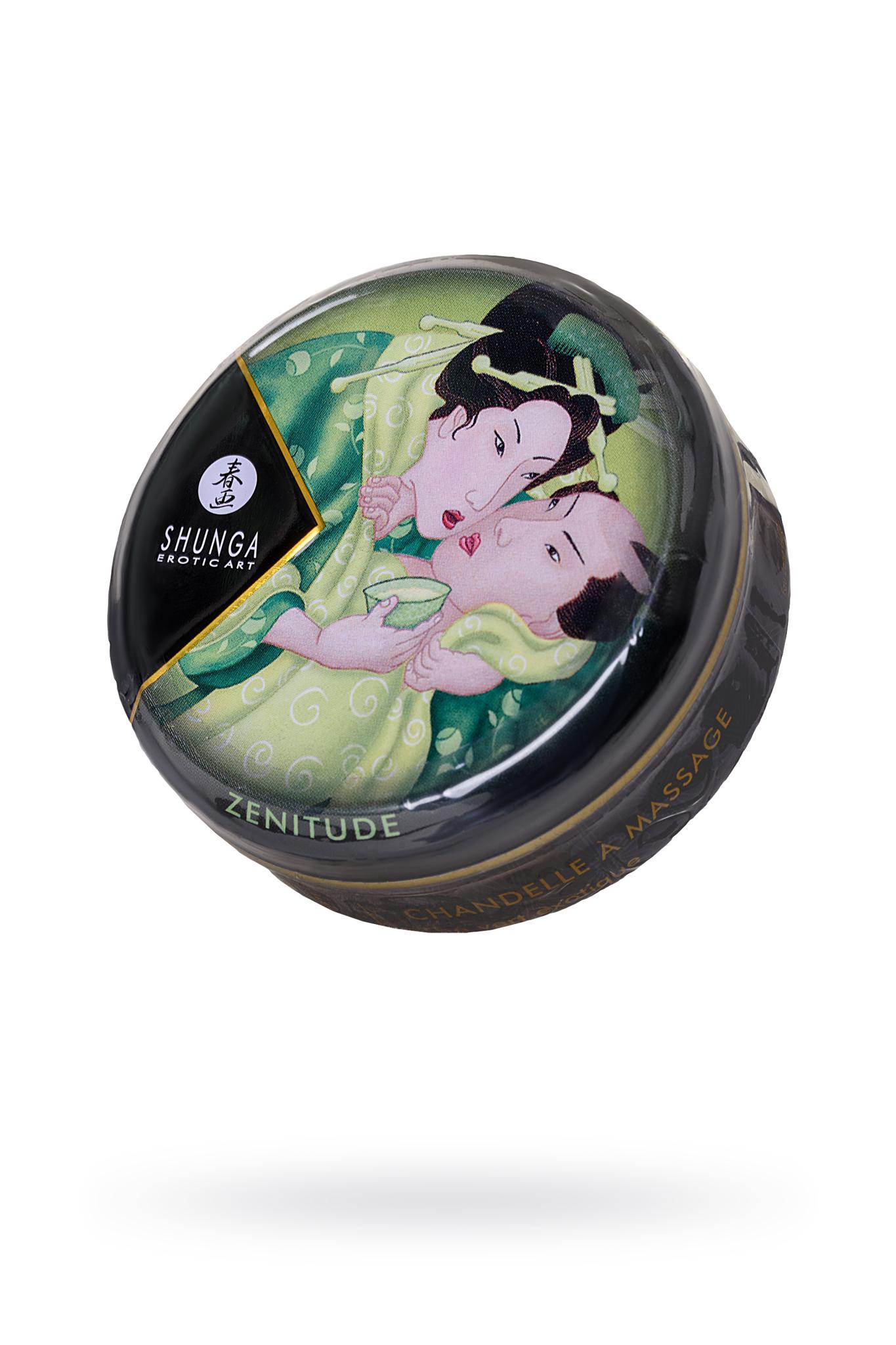 Массажное аромамасло Shunga Zenitude с ароматом зелёного чая, 30 мл фото