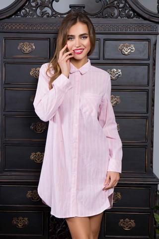 Туника домашняя женская Миа-Миа рубашечного кроя, выполненна из хлопковой ткани