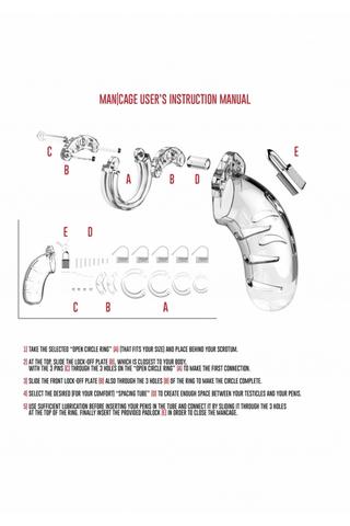 Мужской пояс верности Cock Cage  Model 01 Chastity 3.5