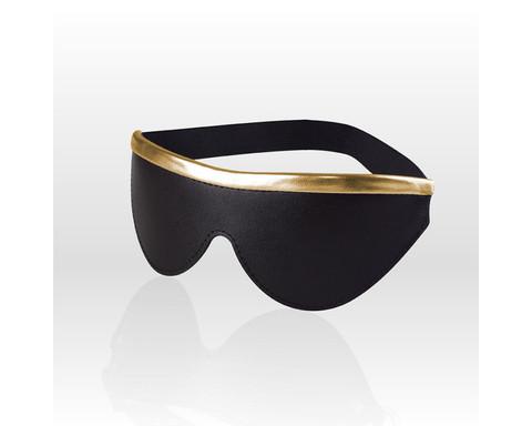 Маска на глаза  с золотистой отделкой