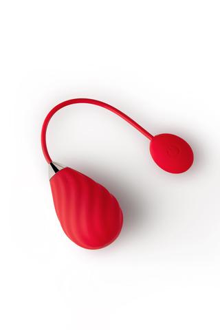 Виброяйцо Magic Motion SUNDAE, силикон, красный, см 19