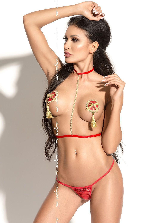 Красная портупея Harness 7 фото
