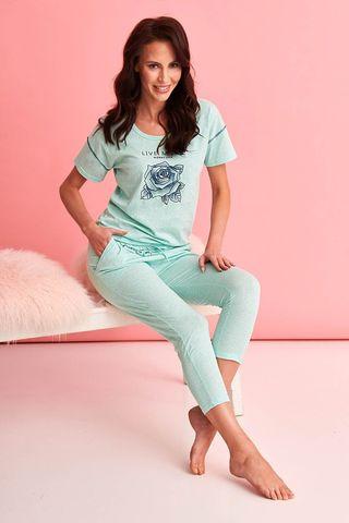 Хлопковая пижама Alexa состоит из футболки и бридж