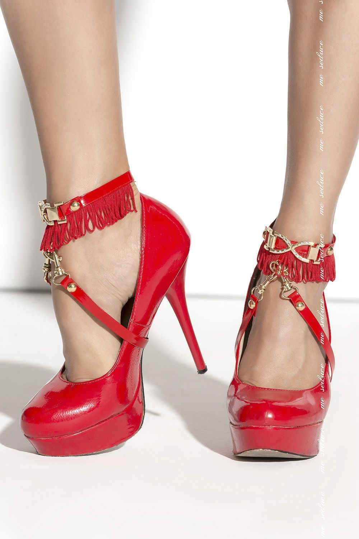 Красное украшение на ногу SO 02 фото