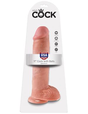 Фаллоимитатор на присоске 11 Cock with Balls телесный King Cock фото