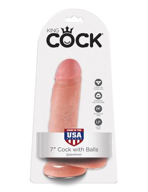 7 Cock with Balls Фаллоимитатор реалистик на присоске фото