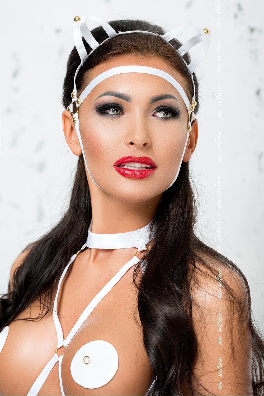 Белая маска MK07 фото